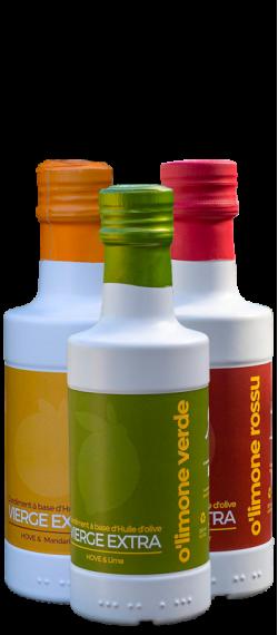 Coffret huiles aromatisées agrumes