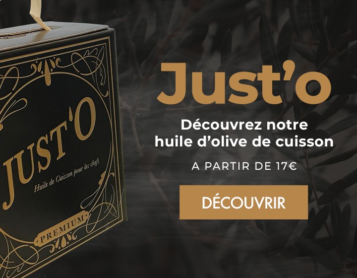 Just'O : huile d'olive de cuisson